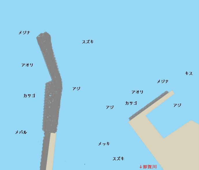 松崎港ポイント図