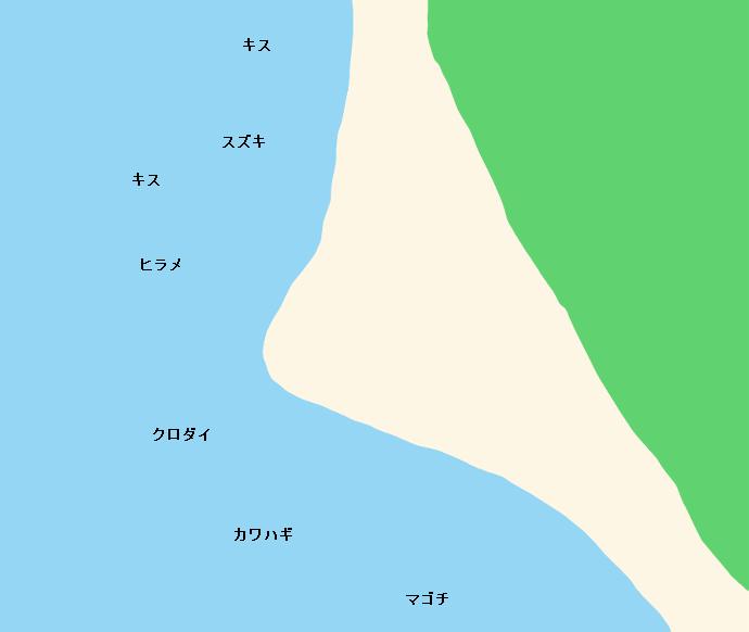 三保海岸ポイント図