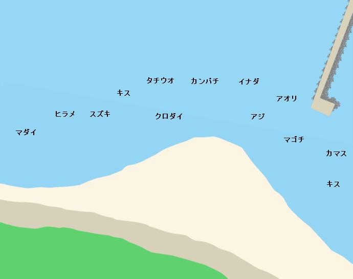 三保真崎ポイント図