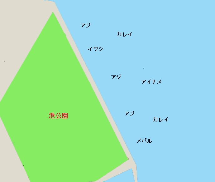 鹿島港港公園ポイント図