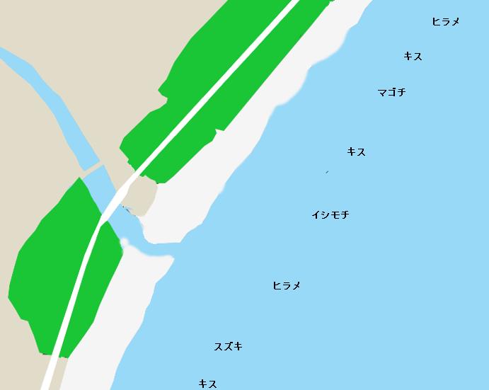 三島海岸ポイント図
