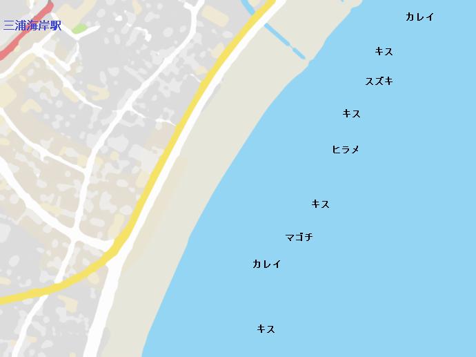 三浦海岸ポイント図