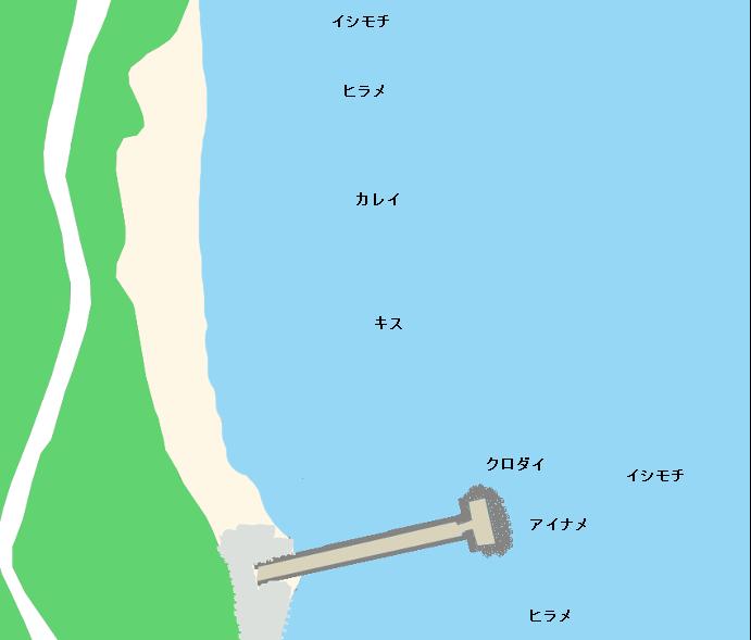 長浜海岸ポイント図