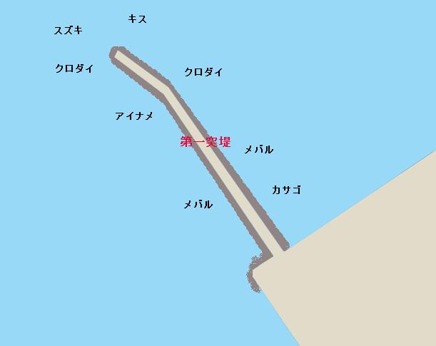 長浦第一堤防ポイント図