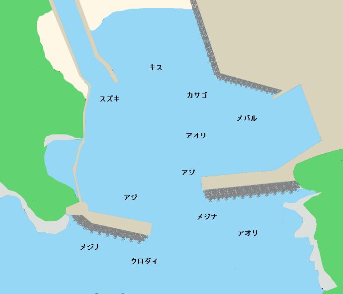 中木港ポイント図