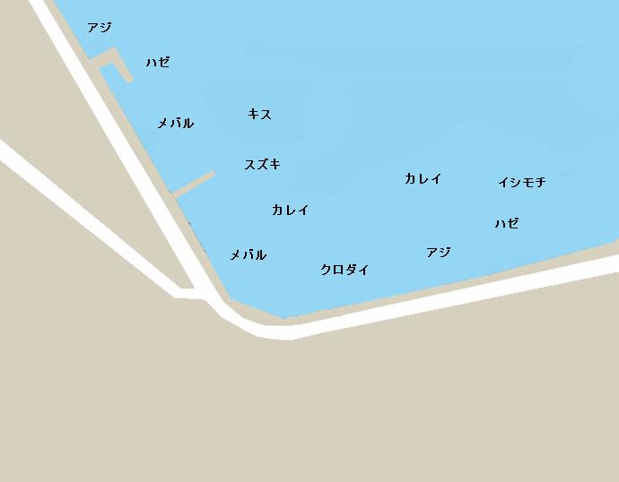 根岸港ポイント図