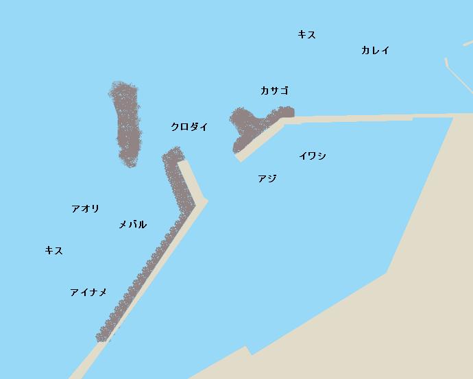 荻生港ポイント図