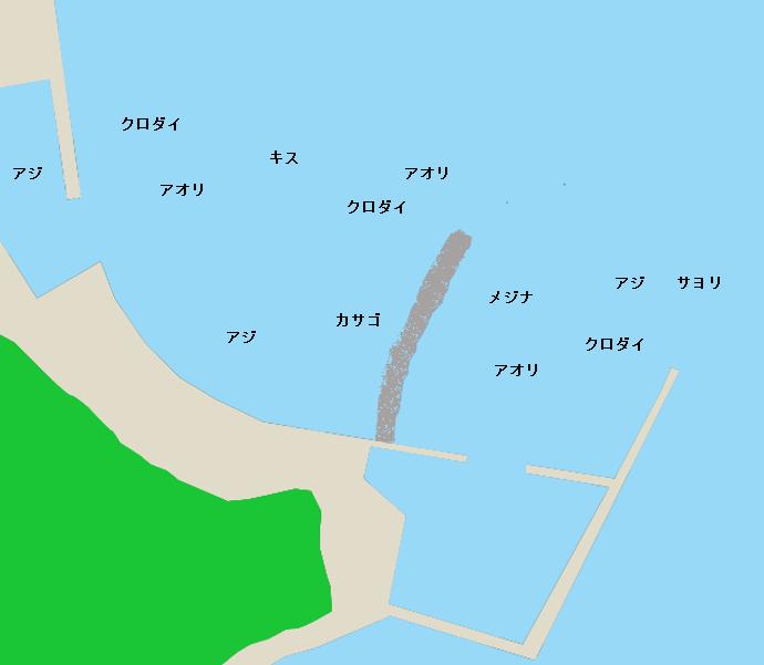 興津港ポイント図