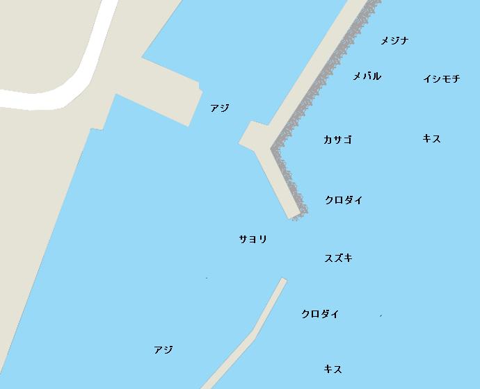 御宿港ポイント図