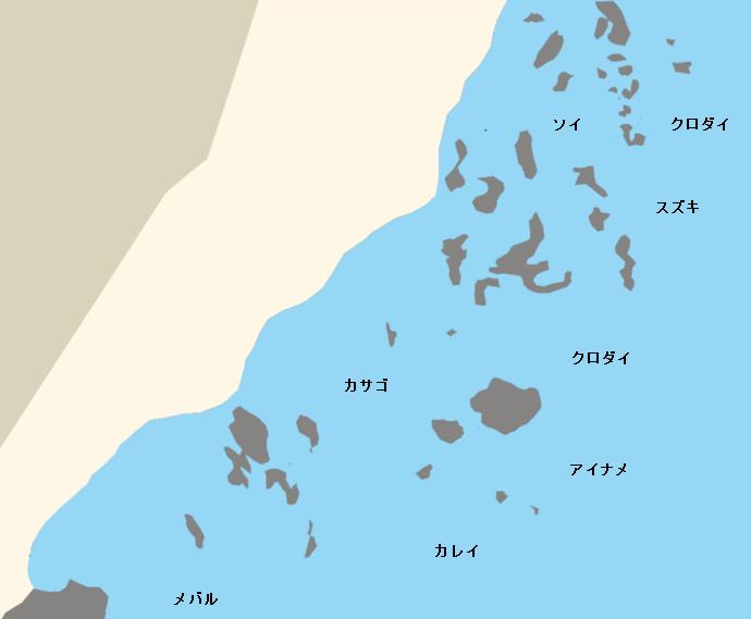 大洗海岸ポイント図