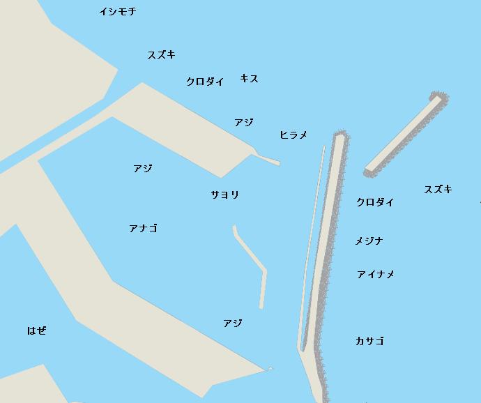 大原港ポイント図