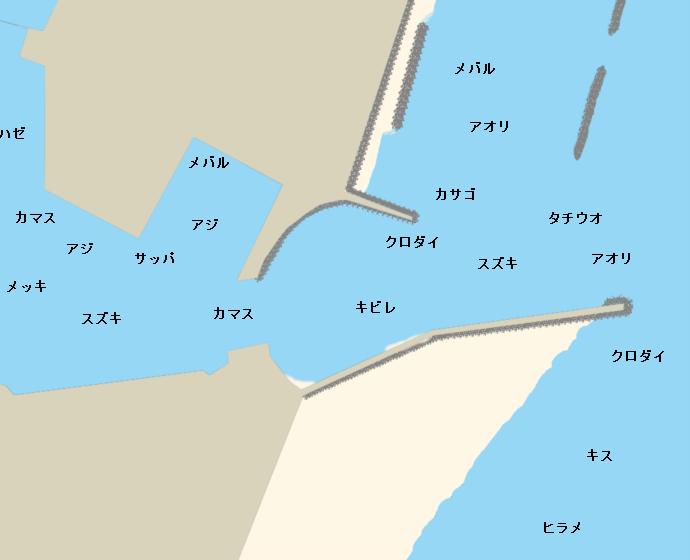 大井川港ポイント図