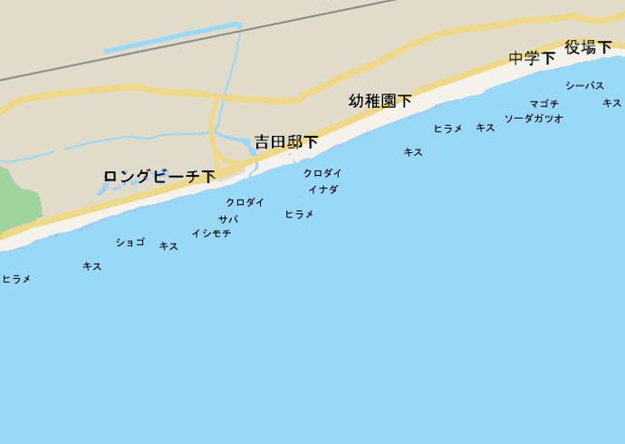 大磯海岸ポイント図