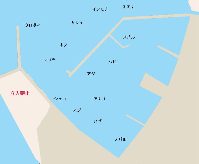 大貫港ポイント図