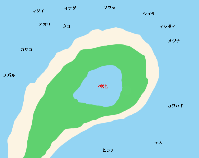 大瀬崎ポイント図