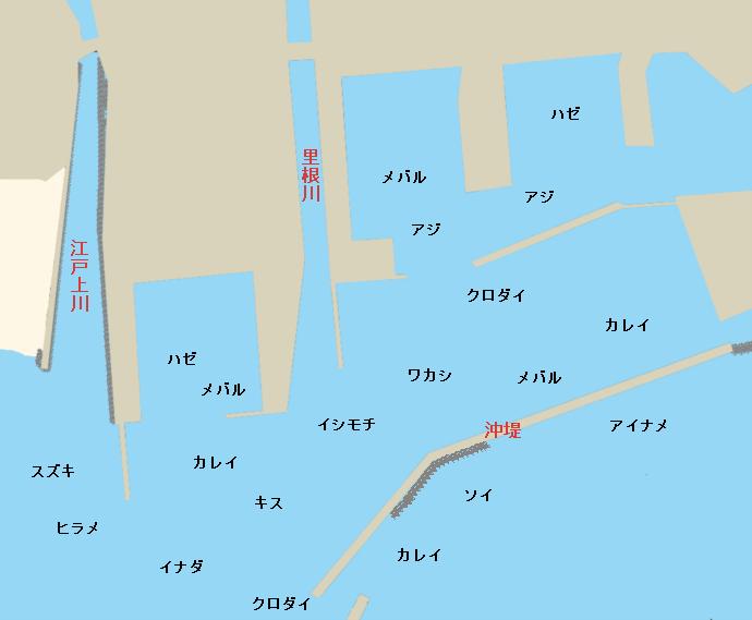 大津港ポイント図