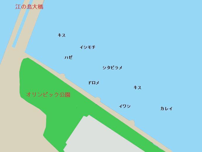 江ノ島オリンピック公園ポイント図