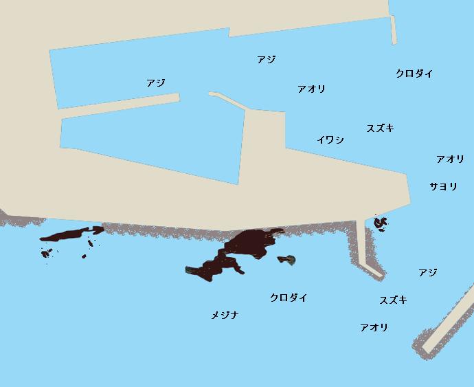 乙浜港ポイント図