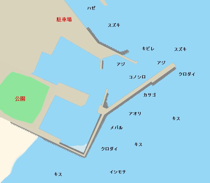 相良港ポイント図