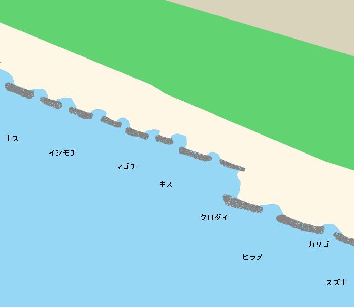 三軒家海岸ポイント図