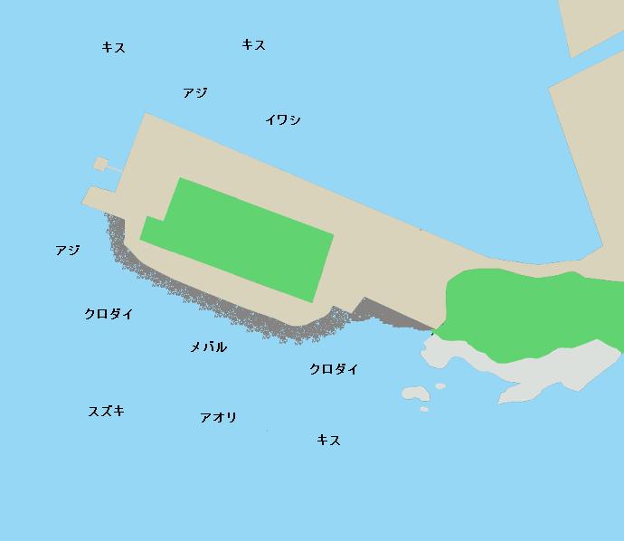 弁天島公園ポイント図