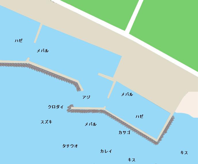 下洲港ポイント図