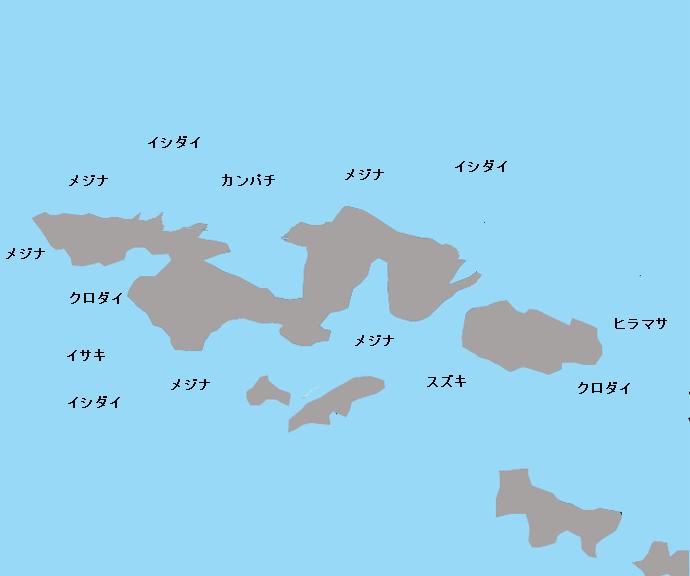 白浜沖磯 江ノ島のポイント