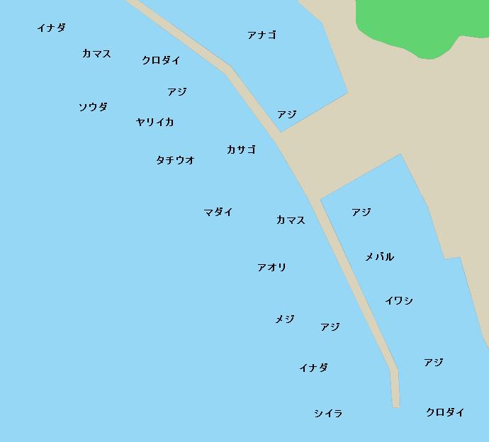 静浦港ポイント図