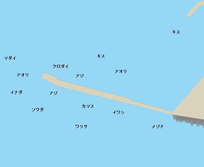 福浦堤防ポイント図