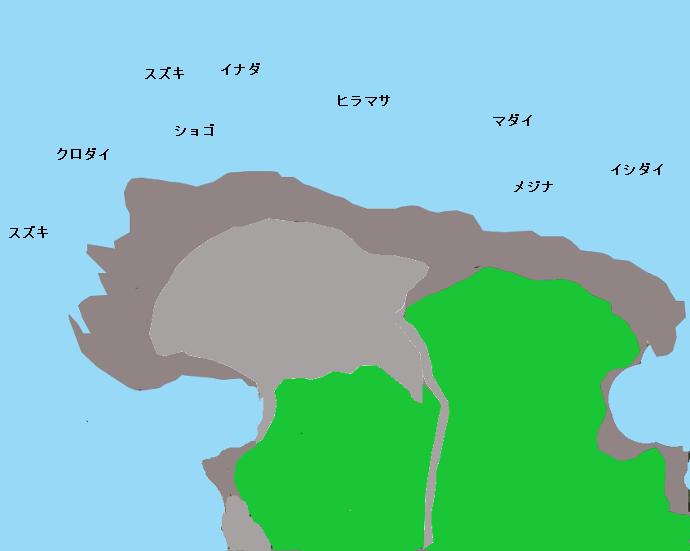 洲崎灯台下ポイント図