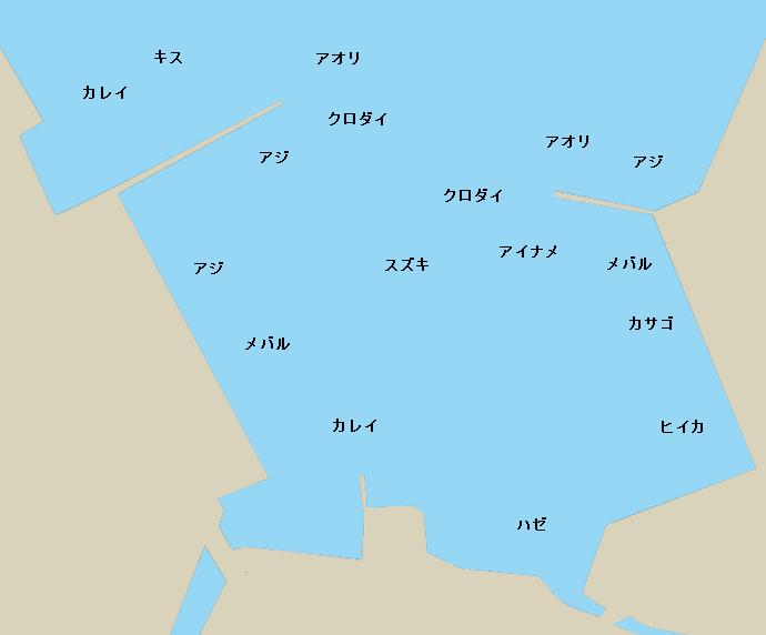 田原港ポイント図