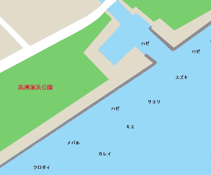高洲海浜公園ポイント図