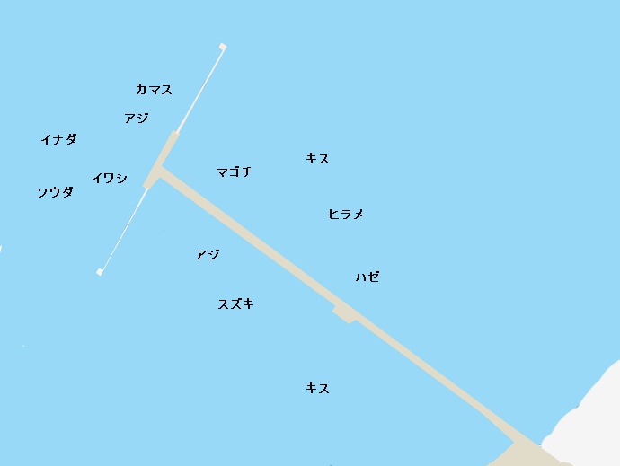 館山夕日桟橋ポイント図