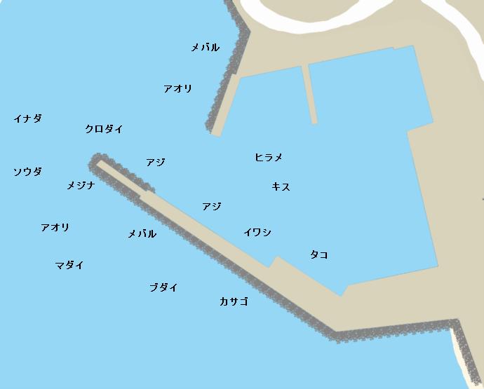 土肥港ポイント図