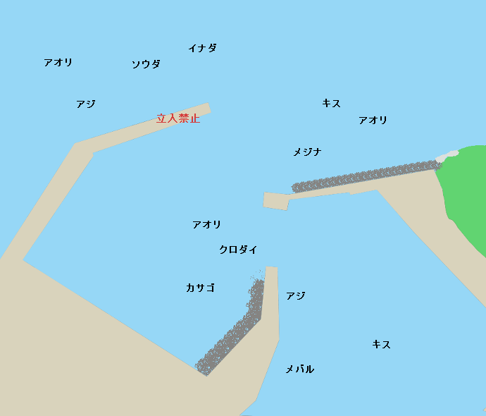 妻良港ポイント図