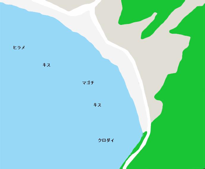 鵜原海岸ポイント図