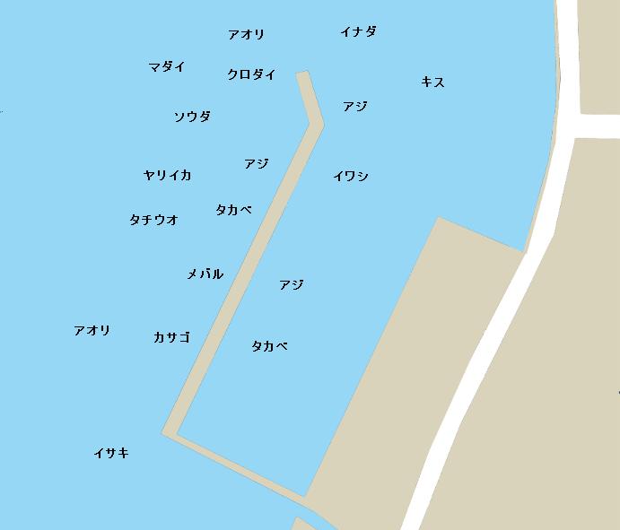 内浦港ポイント図