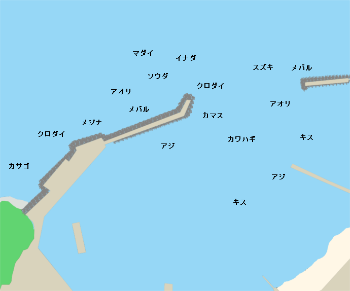 宇久須港ポイント図