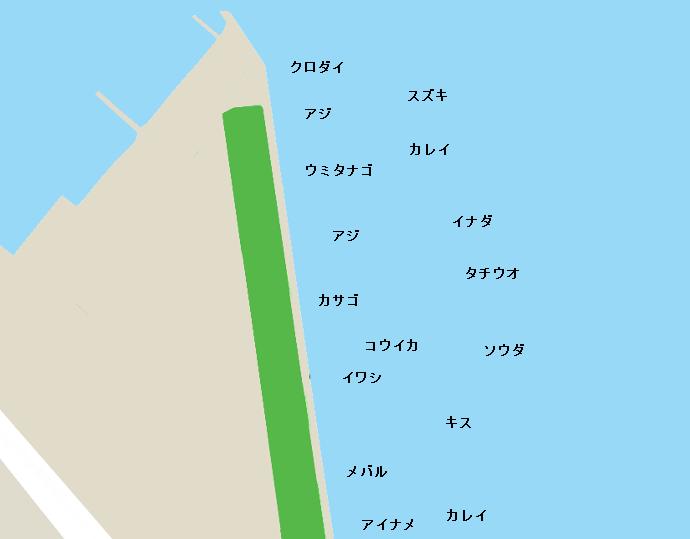 うみべつり公園ポイント図