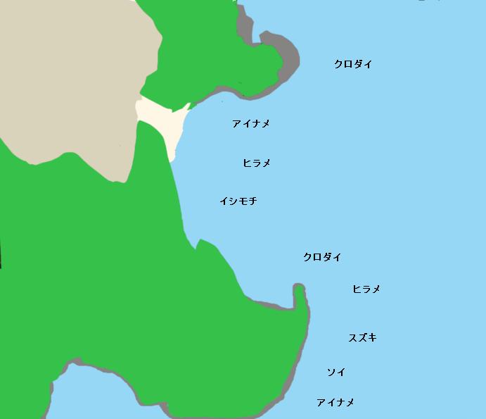 鵜の岬ポイント図