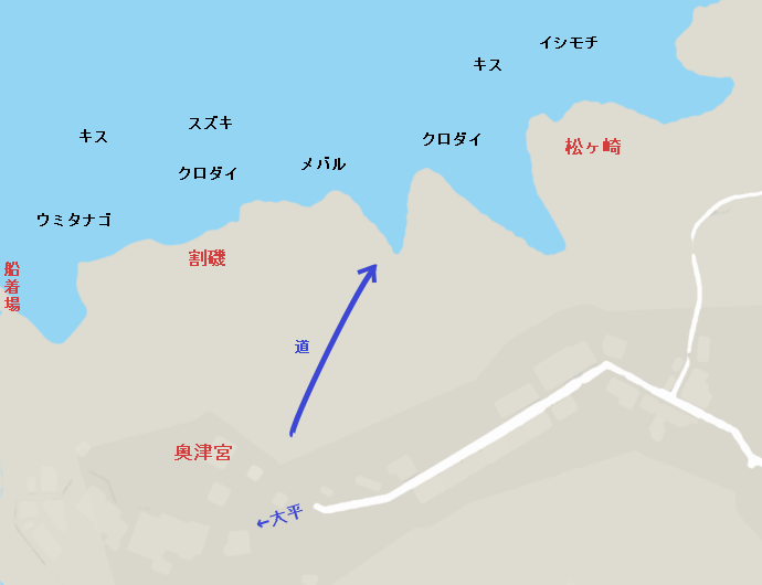 江ノ島裏磯のポイント(松ヶ崎周辺)