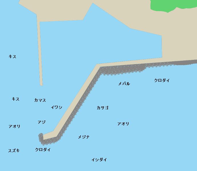 宇佐美港ポイント図