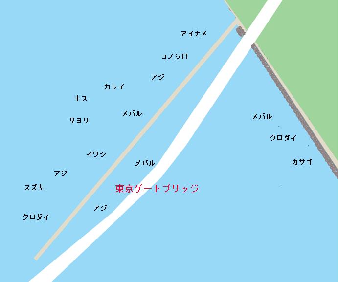 若洲海釣り公園ポイント図
