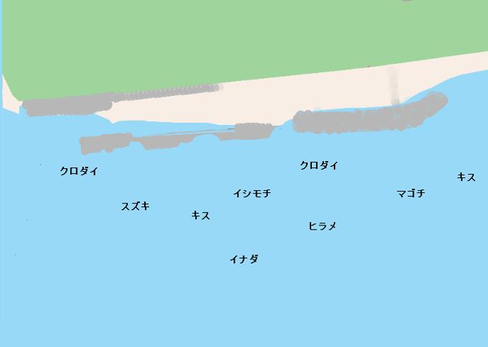 柳島海岸ポイント図