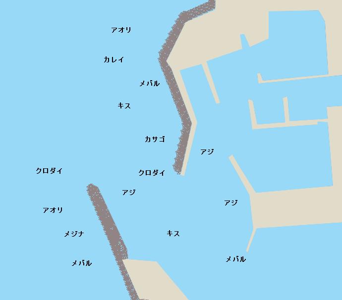 保田港ポイント図