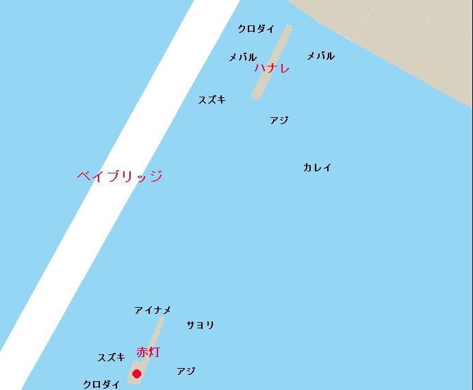 横浜沖堤 赤灯