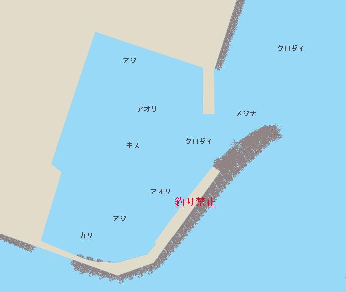 寄浦港ポイント図