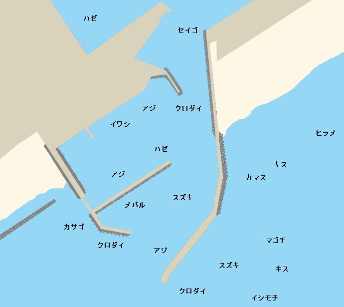 吉田港ポイント図