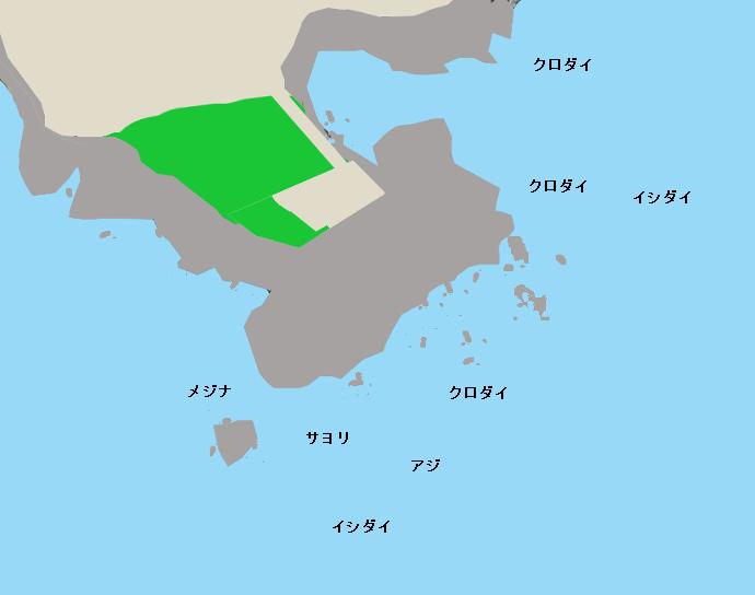 吉浦の磯ポイント図