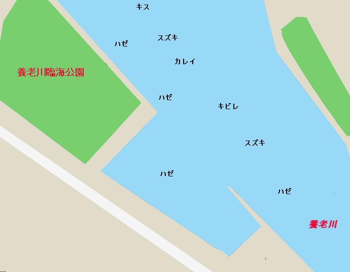 養老川河口のポイント、養老川臨海公園 付近